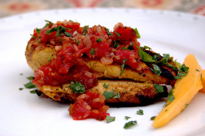 Indian-Spiced Grilled Chicken with Fresh Tomato Chutney
